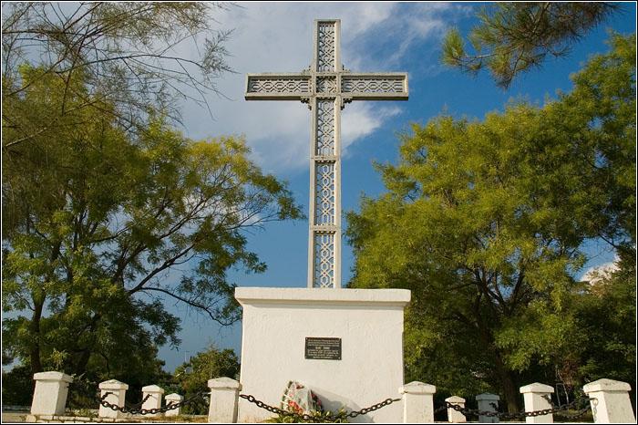 Памятный крест Архипу Осипову. Архипо-Осиповка. <br>